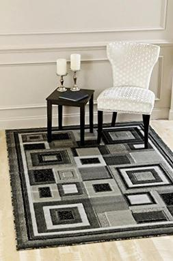 3285 Gray 5'2 x 7'2 Modern Abstract Area Rug Carpet