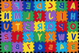 3x5  Educational Rug Kids ABC Letters & Numbers Puzzle Game