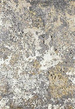 Persian-Rugs 6490 Gray Abstract 5 x 7 Area Rug Carpet Large