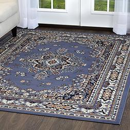 Premium 7069 Country Blue Traditional Rug - Size: 5'3 x 7'5
