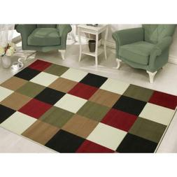 "Sweet Home Stores Modern Boxes Design Area Rug 7'10 X 9'10"","
