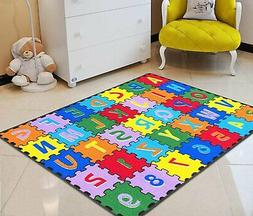 Kids Rugs Carpet Kids Room ABC Puzzle Letters/Numbers Kids E