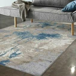 Allstar Rugs Beige and Ivory Abstract Rectangular Area Rug w