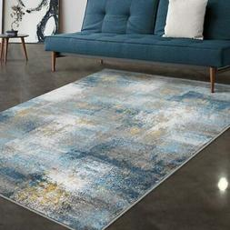Allstar Rugs Grey and Ivory Grunge Rectangular Area Rug with