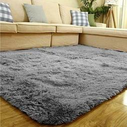 Area Rug Carpet Soft Indoor Modern Smooth Fluffy Anti Skid F