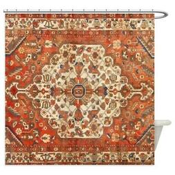 CafePress Antique Floral Persian Rug Shower Curtain