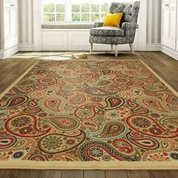 """Area Rug with Non-Skid Rubber Backing 3'3"""" W X 4'7"""" L Bath K"""