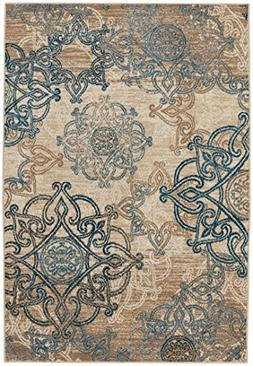 Capel Rugs Bethel-Celtic Rectangle Machine Woven Rug, 5' 2""