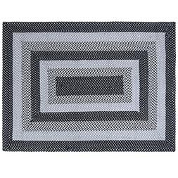 LOCHAS Braided Area Rug Hand Woven Reversible Solid Cotton Y