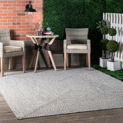 nuLOOM Braided Contemporary Modern Indoor Outdoor Area Rug i