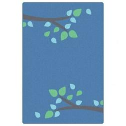 Carpets for Kids Branching Out Carpet 6' x 9' - Blue