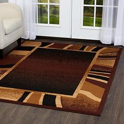 Premium Brown Contemporary Rug - Size: 7'8 x 10'7