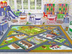 Children School Home Road Map Learning Playroom Large Area R