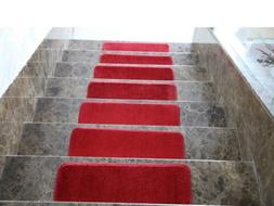 Ottomanson Comfort Collection Soft Solid  Plush Carpet Stair