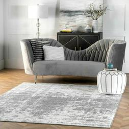 nuLOOM Contemporary Modern Abstract Deedra Area Rug in Grey