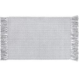 Ojia Cotton Reversible Rag Rug Hand Woven Single Color Chind