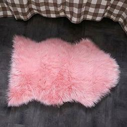 OJIA Faux Sheepskin Fur Rug Soft Fluffy Carpets Chair Couch