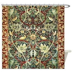 CafePress Floral Persian Rug With Birds Shower Curtain