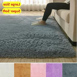 Fluffy Rugs Anti-Skid Shaggy Area Rug Dining Room Home Bedro