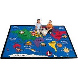 "Geography World Explorer Kids Rug Rug Size: 5'10"" x 8'4"""