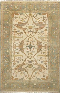 """Hand-knotted Carpet 5'11"""" x 9'2"""" Royal Ushak Traditional Woo"""