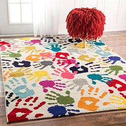 nuLOOM ECCR15A Contemporary Pinkieprint Kids Rug, 5' x 8', M