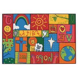 Inspirational Patchwork Rug - 3' x 4'6 Rectangle