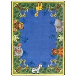 Just for Kidss Jungle Friends Kids Rectangle Rug Size: 5'4""