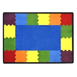 Joy Carpets Kid Essentials Early Childhood Block Party Rug,