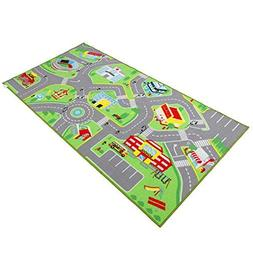 """79""""X40"""" Kids Rug Play mat for Toy Cars, Safe,Colorful and Fu"""