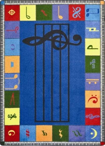 """Educational Note Worthy Kids Rug Size: 7'8"""" x 10'9"""""""