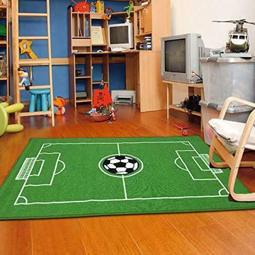 "Furnish My Place All Stars Soccer Ground Kids Rug, 39"" L X 6"