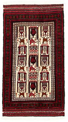 """Hand-knotted Carpet 2'9"""" x 5'0"""" Traditional Vintage Wool Rug"""