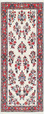 "Hand-knotted Persian Carpet 2'8"" x 6'9"" Sarough Traditional"