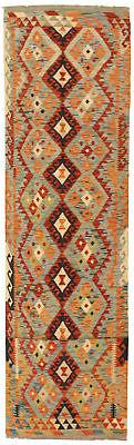 "Hand Woven Carpet 2'7"" x 15'10"" Flat Weave Area Rug"