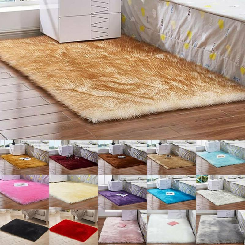Luxury Fluffy Faux Rug Area Soft Floor Mats