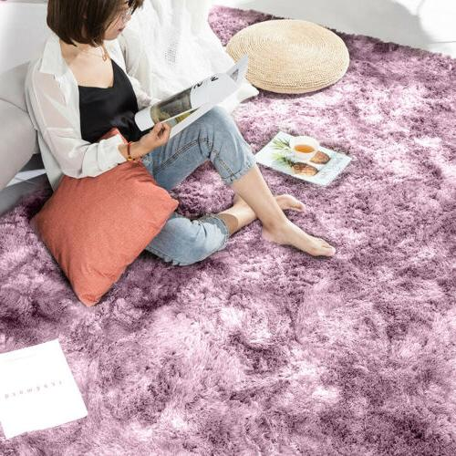US Soft Fluffy Large Rugs Room Bedroom Area Home