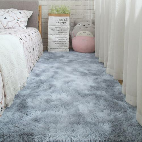 US Fluffy Large Rugs Floor Living Room Bedroom Area Home Decor