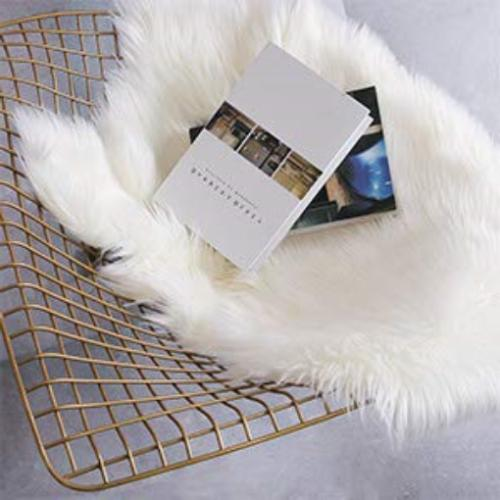 Softness Faux White Sheepskin Chair Cover Seat Area