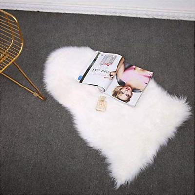 Softness Faux Fur Rug White Rug Cover Seat Pad Area