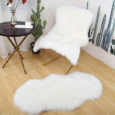Softness Faux Rug White Rug Chair Cover Shaggy Area Rugs