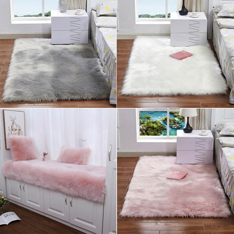 Kids Home Fluffy Rugs Anti-Skid Soft Mat Area Hairy Rug Livi