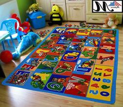 Large Classroom Rugs for Kids ABC Educational Area Rug Playt