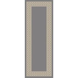 2.6' x 7.25' Mesopotamian Bounds Stone Gray and Antique Whit