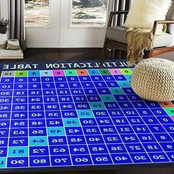ALAZA Multiplication Table Math Area Rug Rugs for Living Roo