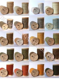 NEW Moire 100% Wool Thread Spool Needle punch Applique Rug H