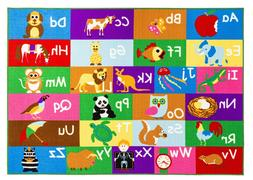 New Multi Color Alphabet Educational / Road Map Reversible F