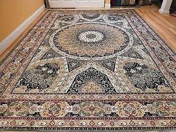 Silk Persian Rugs 8x10  Hand Knotted Fringes 5x8 Traditional