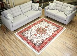 Persian Rugs isfahan Medallion Oriental Traditional Red Area