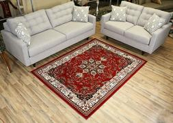 Persian Rugs Isfahan Oriental Traditional Red Area Rug 3' x